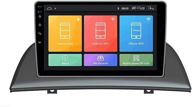 Android 10 Autorradio Navegación del Coche Unidad Principal Estéreo Reproductor Multimedia GPS Radio 2.5D IPS Pantalla táctil porBMW X3 2006-2010