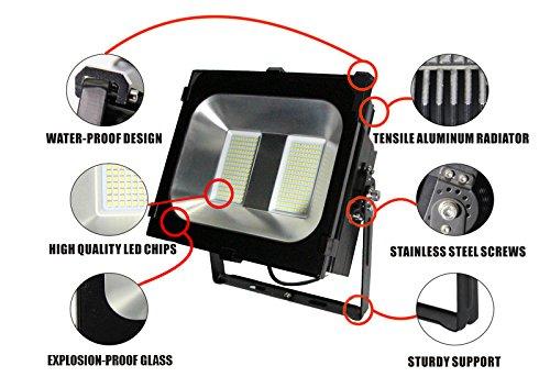 Enlight LED LD-FD-K150U UL Certified 150W LED Flood Light 120 Degree Light Angle 15,000 lm, Cool White, Heavy Duty Aluminum by Enlight LED (Image #4)