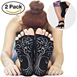 2 Pairs ♥ RAE YOGA Barre Pilates Non Skid Bella Half Toe Grip Socks ♥...