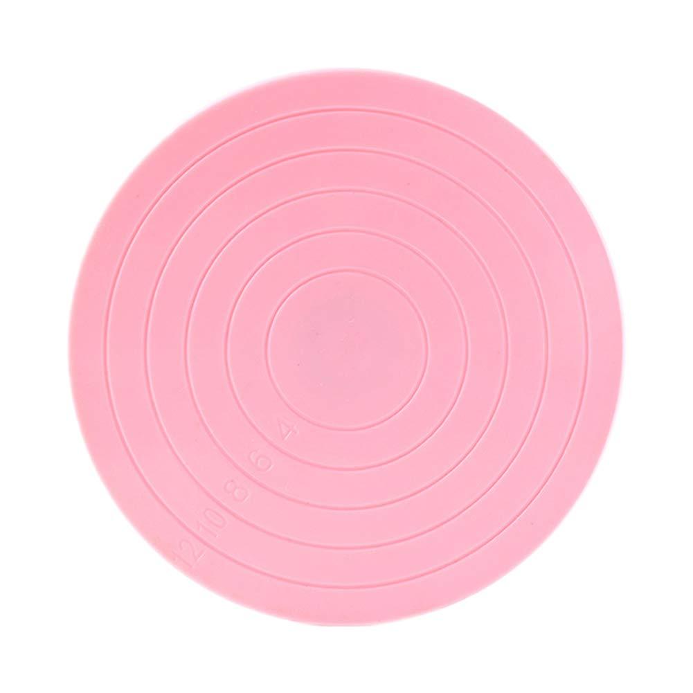 Wonque plastica giradischi con linee guida, alzata per torta Gingerbread decora 14* 1.5cm rosa 1PCS alzata per torta Gingerbread decora 14* 1.5cm rosa 1PCS