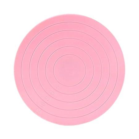 Wonque - Tocadiscos de plástico con líneas de guía, soporte para ...