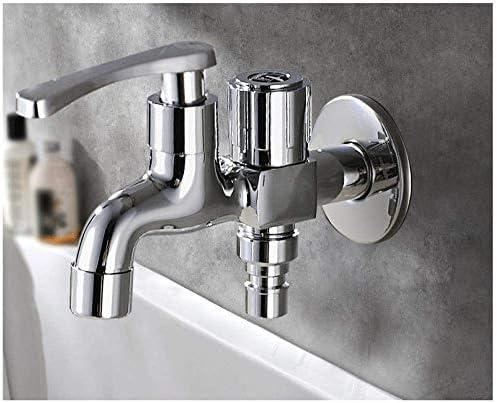 Zxyan 蛇口 立体水栓 銅合金双方向のシングルコールドデュアル使用の多機能洗濯機モッププール防爆不凍液ウォーターストップバルブの蛇口 トイレ/キッチン用