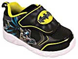 Favorite Characters Batman Lighted Athletic Shoes (Toddler/Little Kid) Black/Yellow (9 M US Toddler)