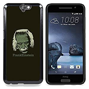 "Qstar Arte & diseño plástico duro Fundas Cover Cubre Hard Case Cover para HTC One A9 (Frankeinstein - Funny E1Nstein"")"