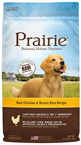 (Prairie Real Chicken & Brown Rice Recipe Natural Dry Dog Food By Nature'S Variety, 13.5 Lb.)