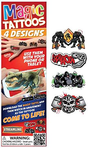 Streamline Magic Tattoos- Come to Life! (4 Designs per package) (Gorilla (MTT504))