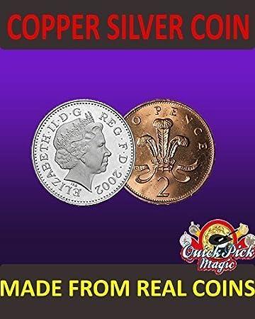 Uk Kupfer Silbermünze 10 Stück 2p Zaubertrick Hergestellt Mit