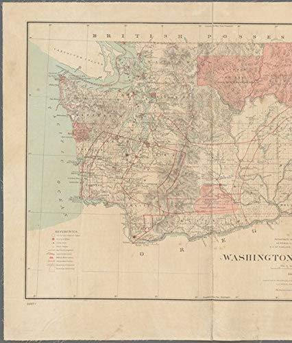 Vintography Reprinted 18 x 24 1883 Map of Washington, D.C. Portion of Orange & Rockland County; Portion of Putnam & Westchester County. The Office 0 0 42a by Vintography
