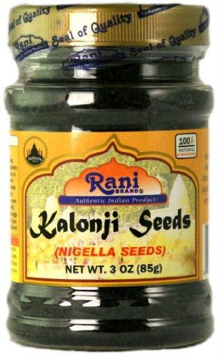 Rani Kalonji (Black Seed, Nigella Sativa, Black Cumin) Seeds 3oz (85g) PET Jar, All Natural ~ Gluten Free Ingredients | NON-GMO | Vegan | Indian Origin ()