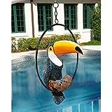 Design Toscano QL11170 Sculpture de touco/toucan tropical Multicolore 26,5 x 35,5 x 47 cm