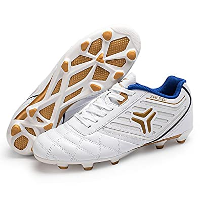 Anduode Boys Firm Ground Soccer Cleats Football Shoes Soccer Shoes