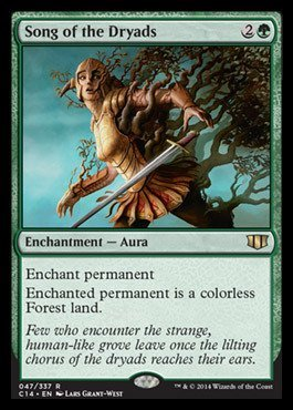 Magic: the Gathering - Song of the Dryads (047/337) 2014 - Commander 2014 (047/337) by Magic: the Gathering 97684c