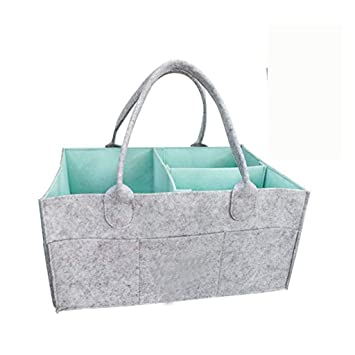 Large Baby Diaper Wipes Bag Caddy Storage Bin Infant Nappy Organizer Basket Box Baby