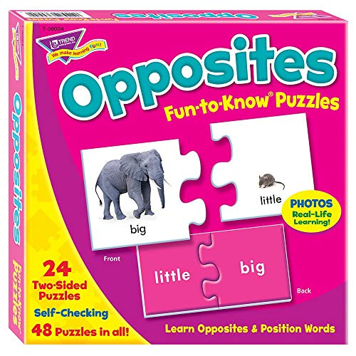 TREND enterprises, Inc. Opposites Fun-to-Know Puzzles (Cards Opposites Flash)