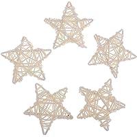 IPOTCH Estrella de Ratán Mimbre Mesa Boda Fiesta