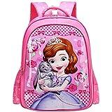 Kid's School Bag Mini Backpack Cute Cartoon Smooth Surface School Backpacks Bookbags for Children Girls (Pink)