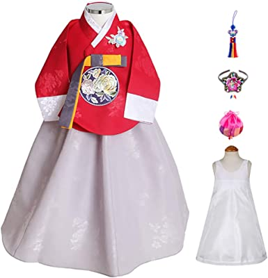 6 Items Total Dol Bok from Age 1 to 15 Made in Korea Skyroad Korean Traditional Hanbok Set Baby Through Girl