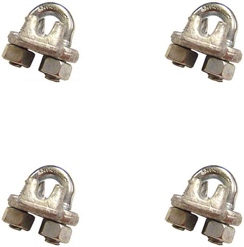 3//4 Galvanized Drop Forged Wire Rope Clips 4 Pack