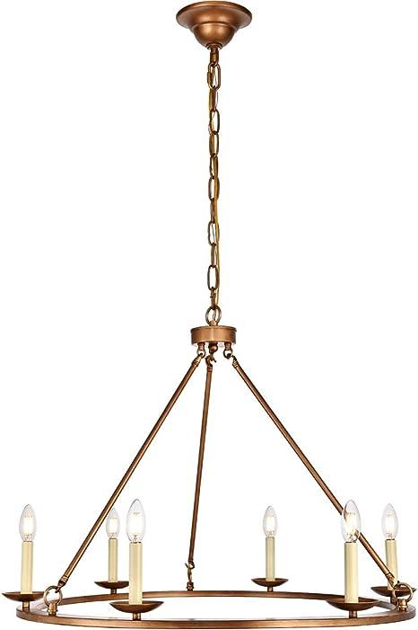 Amazon.com: Chandeliers - Lámpara de techo con 6 lámparas de ...