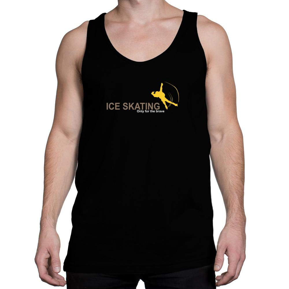 Idakoos Ice Skating Only for The Brave Tank Top