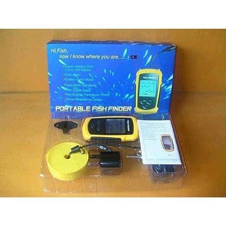 Detector de peces 100 M Detector / sirena y LED - sonar - equipo necesario para los pescadores: Amazon.es: Deportes y aire libre