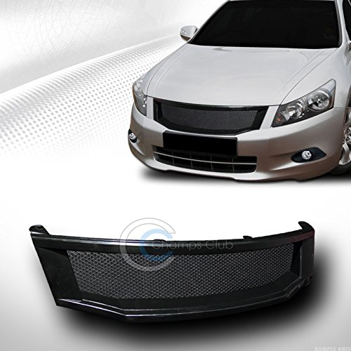 R/&L Racing Black Aluminum Mesh Front Hood Bumper Grill Grille Cover Abs 08-10 Accord 4D 4Dr