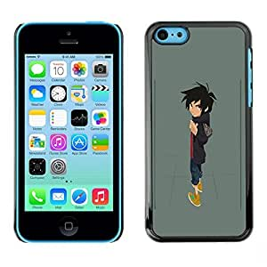 Colorful Printed Hard Protective Back Case Cover Shell Skin for Apple iPhone 5C ( Boy Cartoon Character Art Drawing Painting )