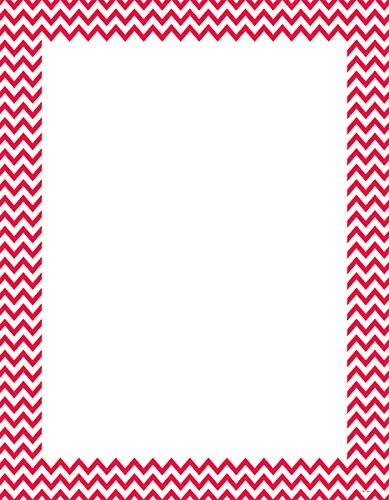 Creative Teaching Press Poppy Red Chevron Poster Chart (0966)