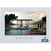 Soulaca 19 Frameless Android Smart White Bathroom TV Built-in WiFi T190FA-W2