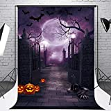FIVEWARE 5x7FT Halloween Photo Backdrop Cloth Gothic Photography Background Halloween Party Decorations Studio Photo Props BD1839