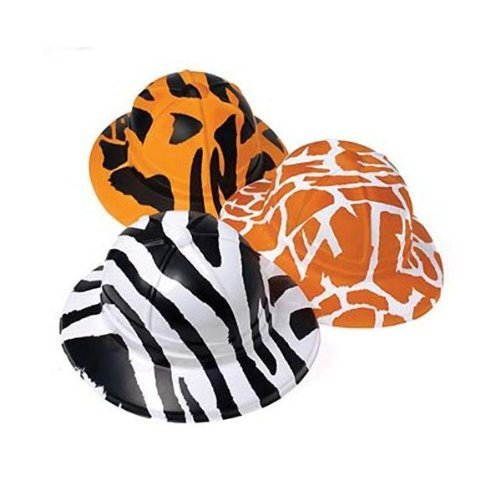Adult Safari Hats - Animal Print Safari Hats (1 Dozen) - Bulk