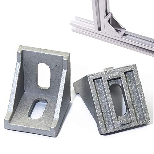 (Boeray 20pcs 3030 2 Hole Strong Inside Corner Bracket Gusset for 3030 Series Aluminum Extrusion Profile with Slot 8mm)