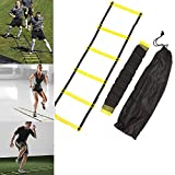FidgetFidget Football Agility Ladder for Soccer Fitness Feet Speed Training 5 Rung 10 Feet 3M