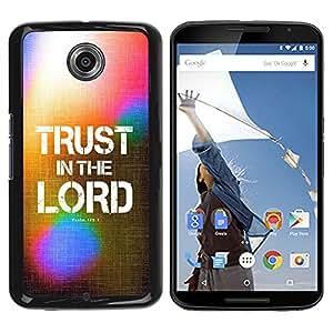 Paccase / SLIM PC / Aliminium Casa Carcasa Funda Case Cover para - BIBLE Trust In The Lord - Psalm 125:1 - Motorola NEXUS 6 / X / Moto X Pro