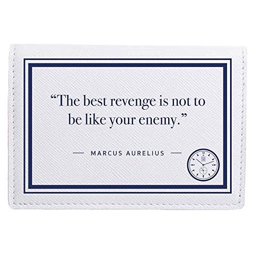 Stoic Time Marcus Aurelius The Best Revenge Quote Card Holder