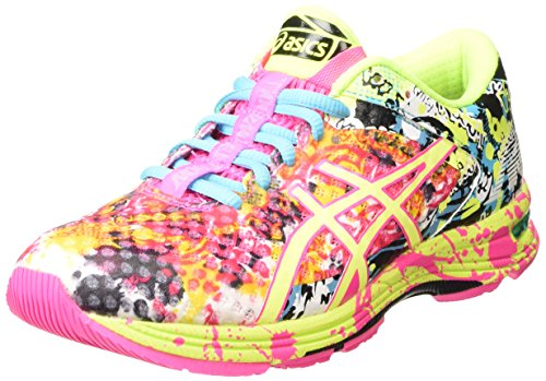 ASICS Gel-noosa Tri 11, Damen Laufschuhe, Pink (hot Pink/flash Yellow/black 3407), 40 EU