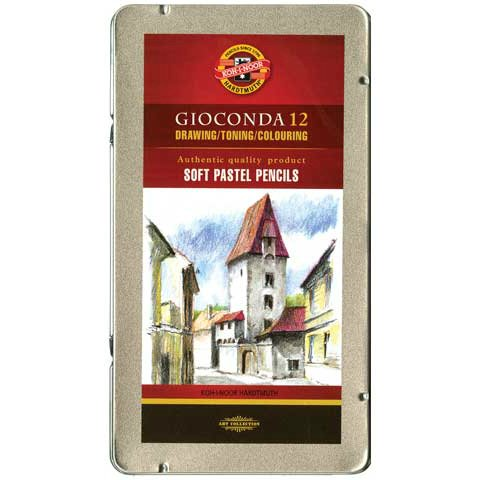 Koh-I-Noor Gioconda Soft Pastel Pencil Tin Set of 12