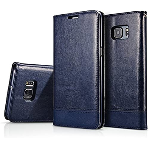 S7 Edge Case, S7 Edge Case, CAPY [Stand Feature] Wallet Leather Case with Stand, ID & Credit Card Pockets Flip Sales