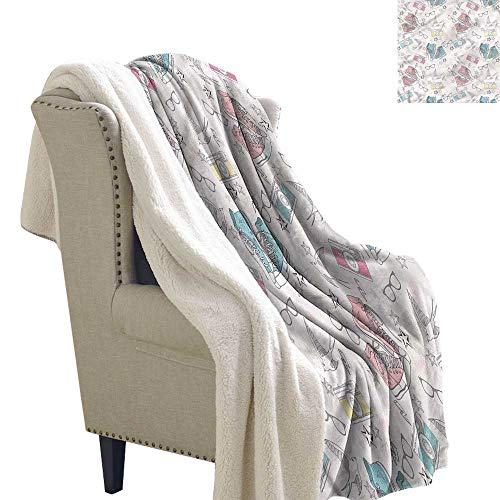 Beihai1Sun Vintage Blanket Small Quilt Grunge Halloween Birds 60x32 Inch ()