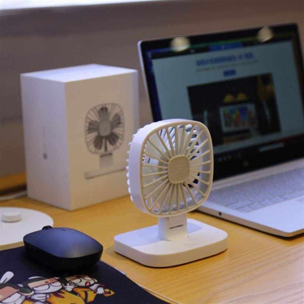 Mini Portable Cooling Fan USB 12V Portable Car Fan Air Cooler Desktop Mini Automotive Stand Ventilator Refrigeration Color : White, Size : Double Fans