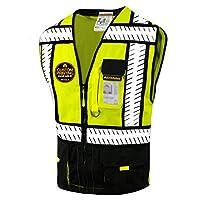 KwikSafety SPECIALIST & SHERIFF | Class 2 Safety Vest | 360° Hi Viz Reflective ANSI Compliant Work Wear | Hi Vis Breathable Mesh 5 Pockets | Men Women Regular to Oversized Fit | Blue and Black