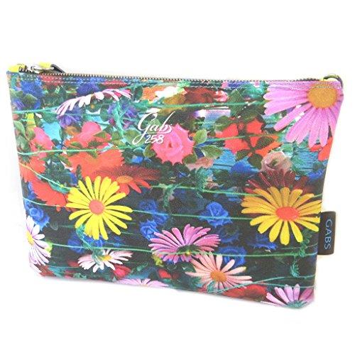 Pouch bag Gabsmulticolore (fiori)- 28x21x2 cm.