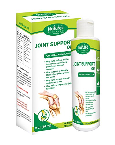 Naturez Ayurveda Joint Support Rubbing oil --Powerful Pain Relief oil for Joint Back Knee Neck Shoulder Pain Reliever. Effective for Carpal Tunnel, Tennis Elbow, Tendonitis, Muscle Chronic Pain (2 Oz)