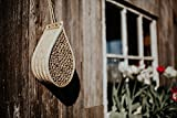 Bamboo Mason Bee House With Dozens Of Natural Bamboo Nesting Tubes - Ideal For Solitary Bees, Including Mason Bees and Leafcutter Bees - Ideal For Garden And Backyard - Helps Protect Pollinators