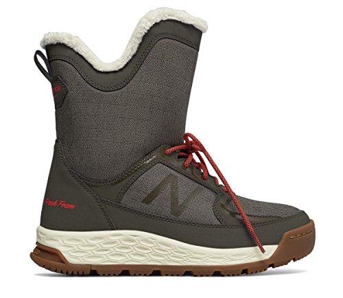 成功寺院キャラクター(ニューバランス) New Balance 靴?シューズ レディースウォーキング Fresh Foam 2100 Boot Olive with Red オリーブ レッド US 7 (24cm)