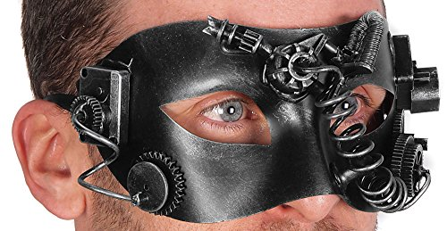 Steampunk Gear Eye Mask Halloween Costume Party Goggles (SILVER) (Goth Halloween Costumes For Kids)