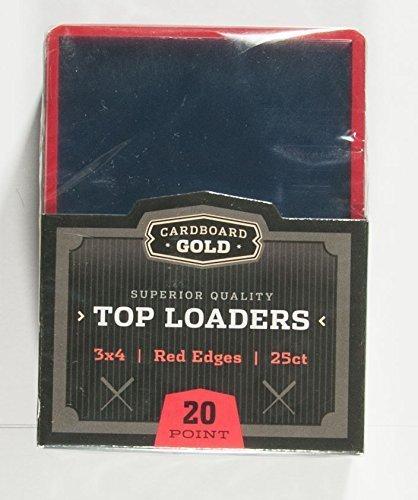 250 Karton gold top-load 3 x 4 Farbe Edge Trading Karte in rot von Karton gold