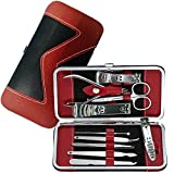 Manicure Pedicure Set Nail Clippers - 10 Piece Stainless Steel Hygiene Kit - Toenail Clippers Includes Cuticle Remover with Portable Travel Case Beauty Care Tools
