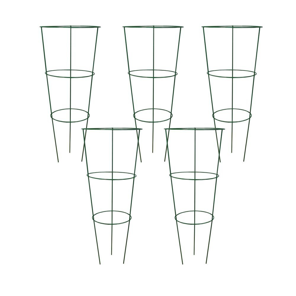 Badass Sharks Set of 5 Conical Garden Plant Support Rings (45cm)