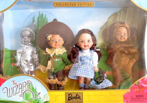 Barbie COLLECTOR Edition KELLY & TOMMY WIZARD of OZ DOLLS GIFT SET w Dorothy & TOTO, Tin Man, Scare Crow & Lion (2003) by (Dorothy Shoes From The Wizard Of Oz)
